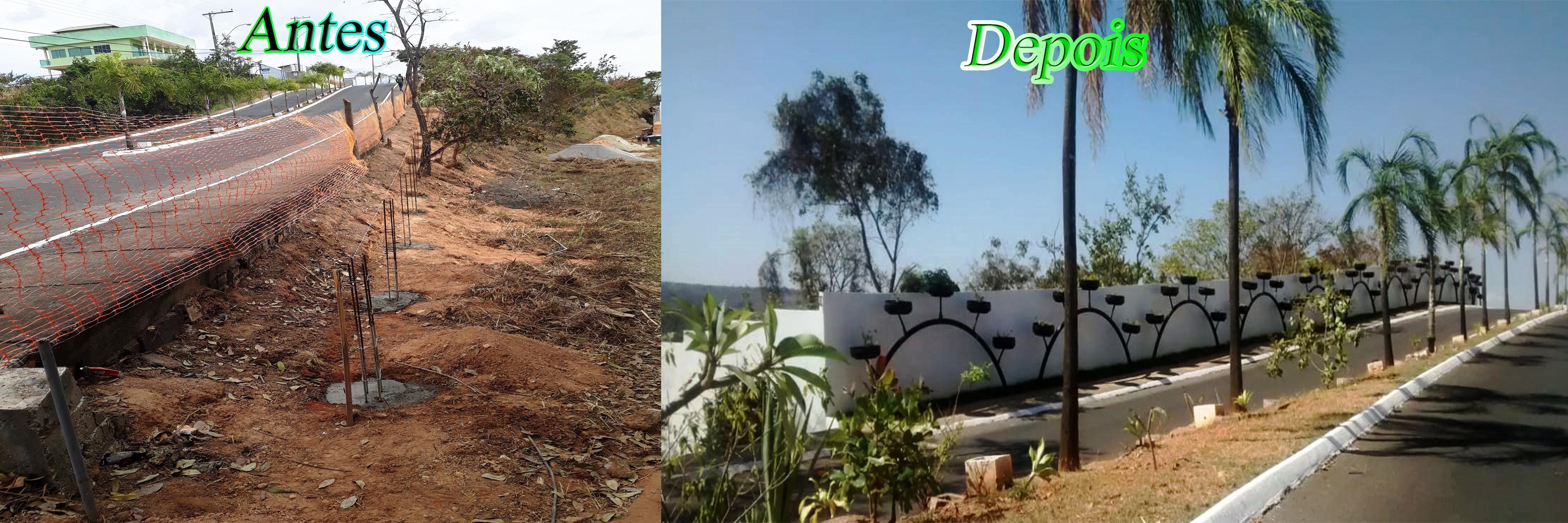 Muro-e-jardim